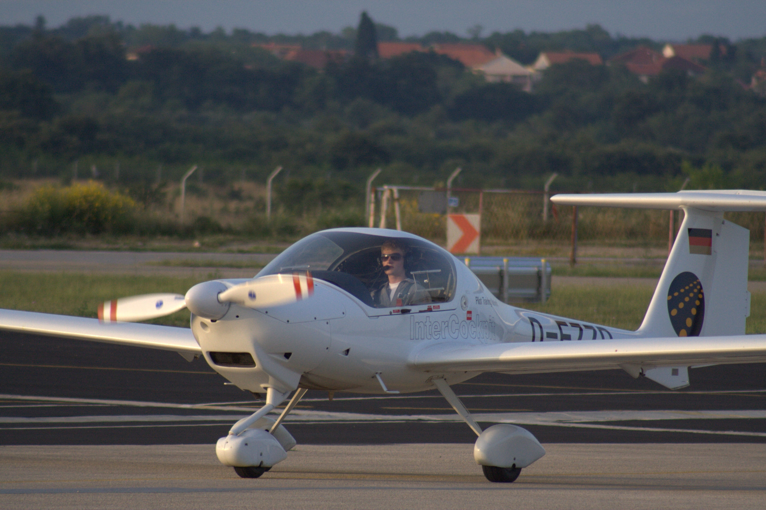 first solo flight, flight school, student pilot, DA20, Zadar, Pilot Training Network, Intercockpit