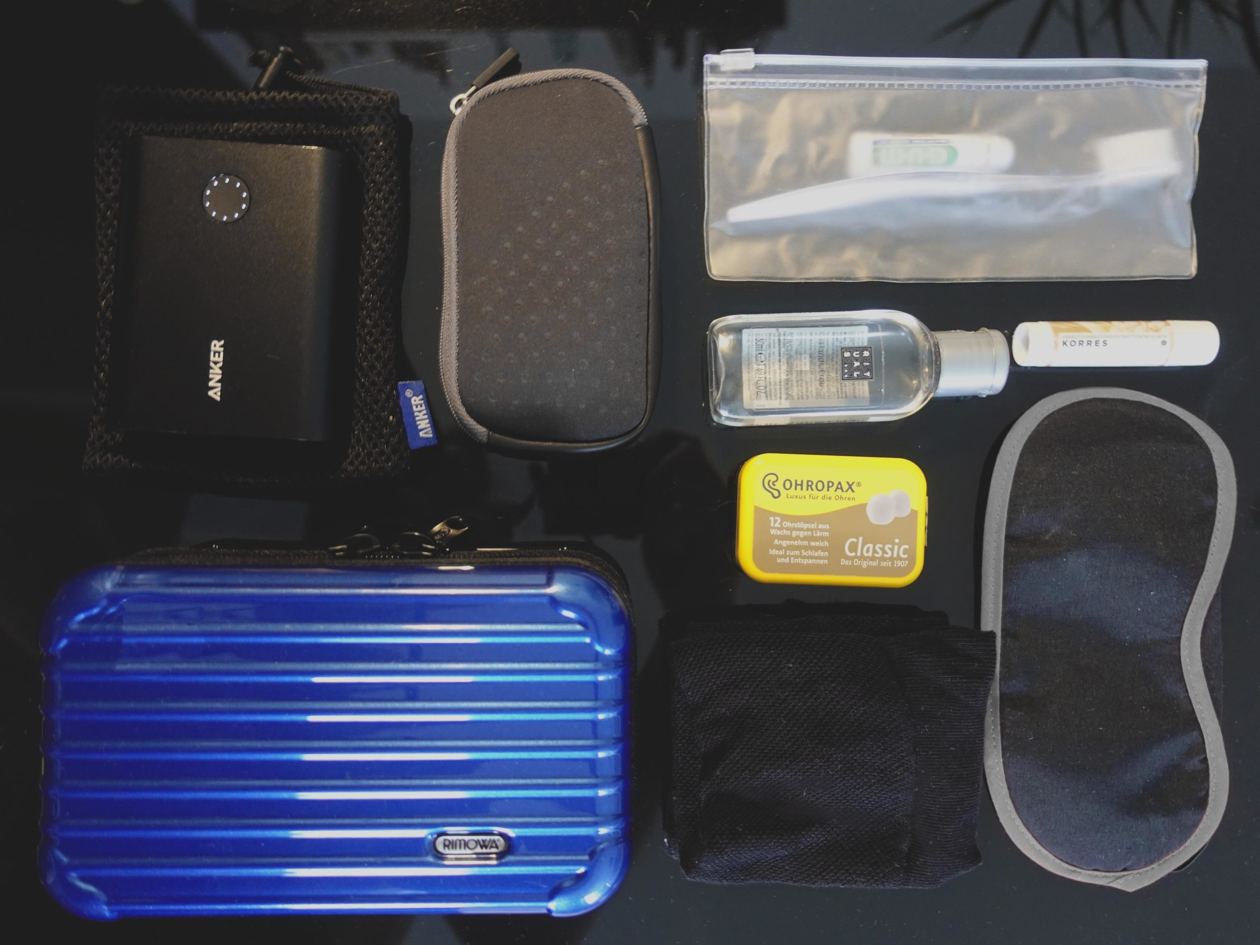 travel essential amenity kit long range flight